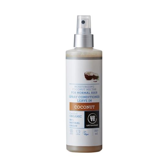 URTEKRAM nawilżająca odżywka do włosów z kokosem bez spłukiwania spray 250ml