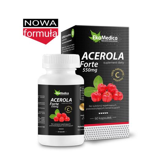EkaMedica Acerola Forte 550mg 60 kapsułek